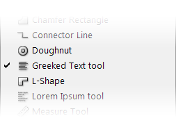 Greeked Text tool