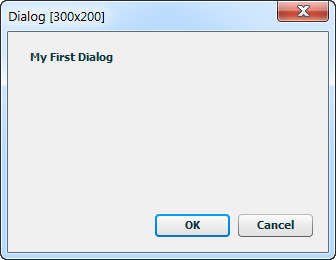 My First Dialog